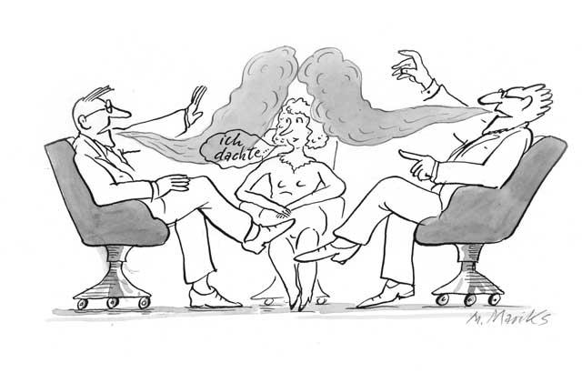 Männerdisput mit überflüssiger Frau - 1