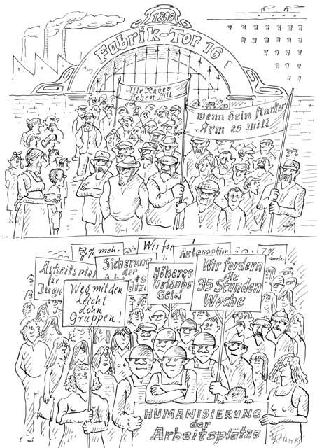 Demo / Streik / Humanisierung der Arbeitsplätze