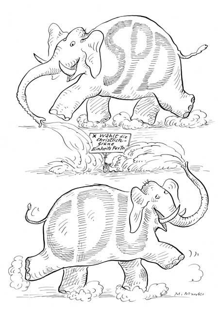 Elefanten: SPD und CDU