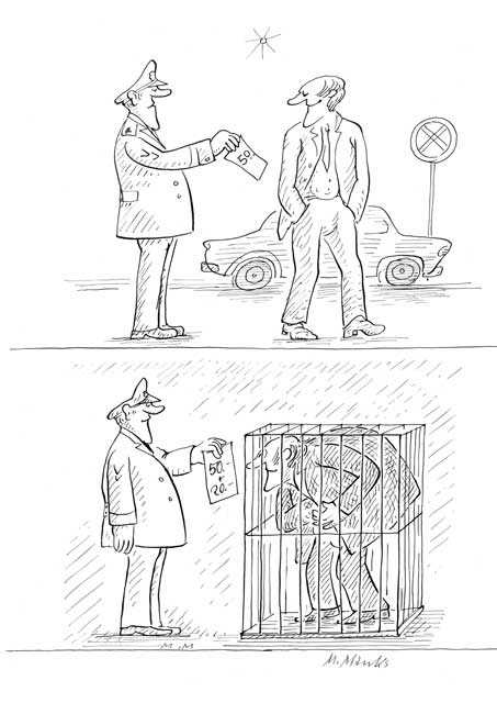 Falsch geparkt - teure Strafe