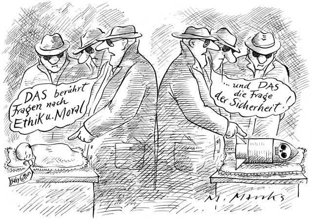 Fragen der Ethik und Moral sowie der Sicherheit