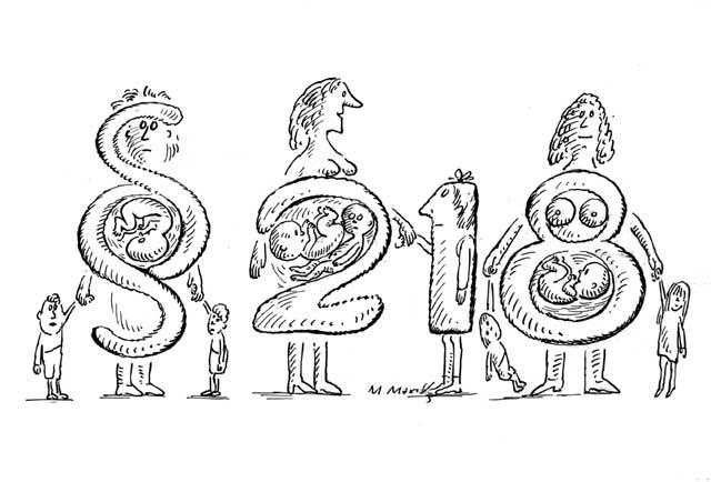 Frauen mit Kindersegen