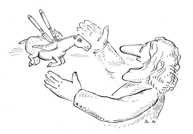 Gebratener (willkommener) Pegasus