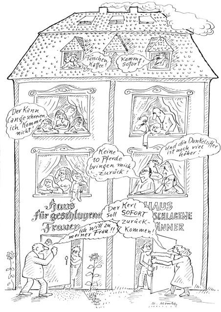 Häuser für geschlagene Frauen/Männer