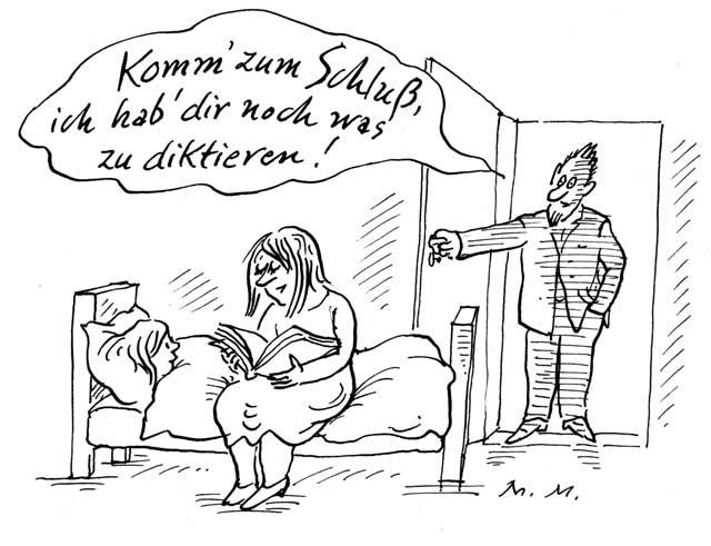 """""""Komm' zum Schluß, …"""