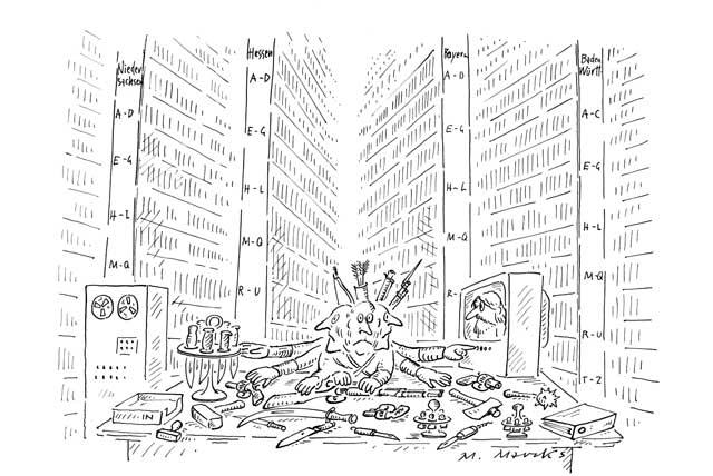 Sachbearbeiter in der Radikalenkartei (überfordert)