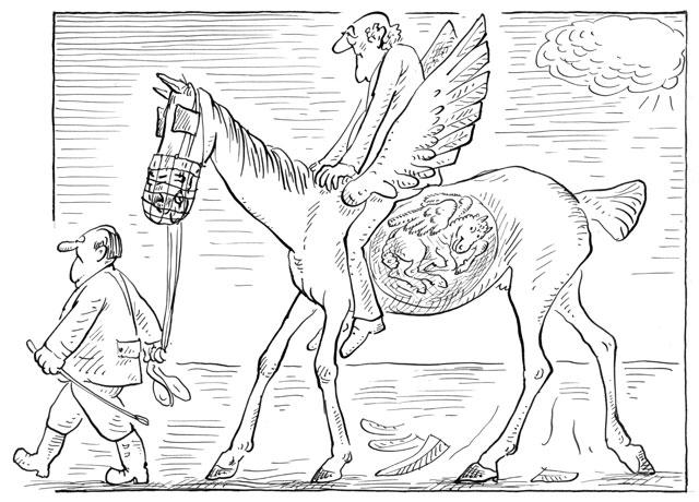 Stefan Heym auf schwangerem Pegasus