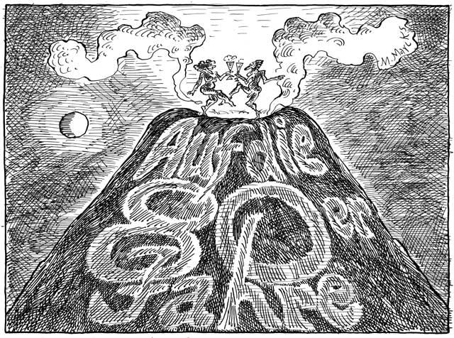 Sylvestertanz auf dem Vulkan