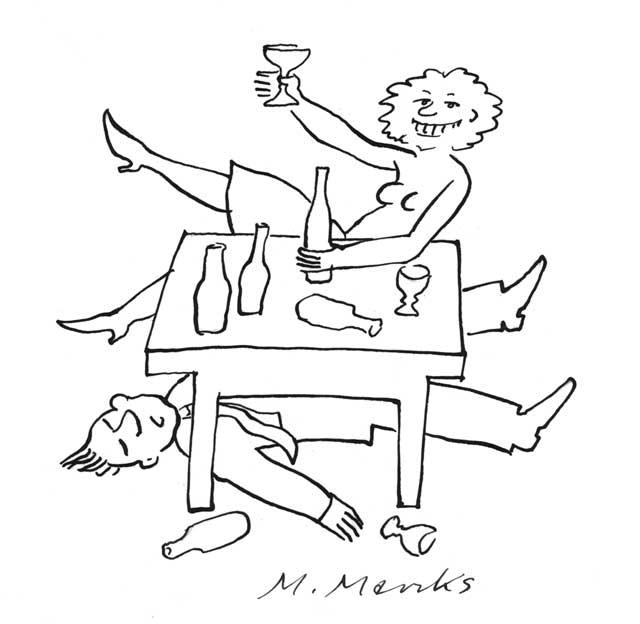 Untern Tisch gesoffen