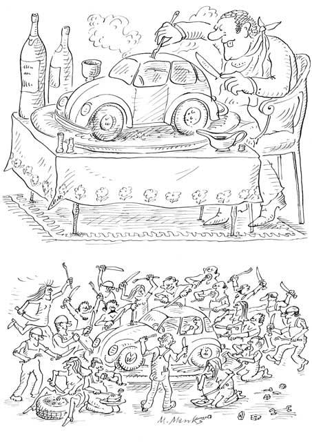 VW schmeckt Reich und Arm